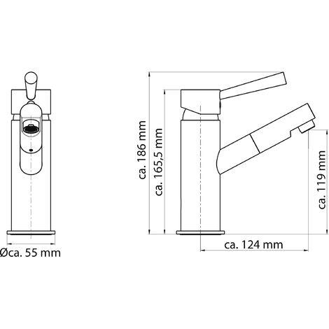 Design-Waschtischarmatur CORNWALL, Weiß , 79130