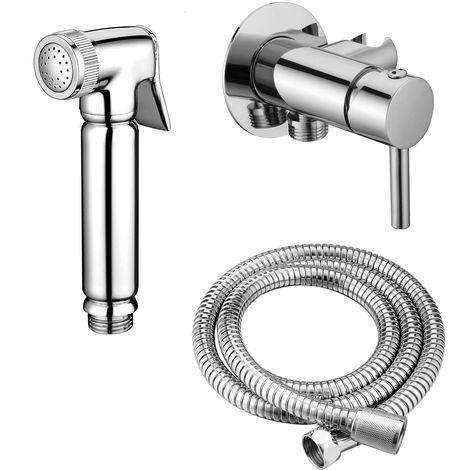 Design WC/Bidet Handbrause Komplettset mit Mischerarmatur Mini