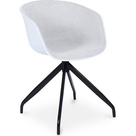 Design Weiß gepolsterter Bürostuhl