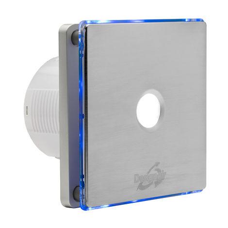 DESIGNAIR 4 pouces bleu LED - acier inoxydable avec spot