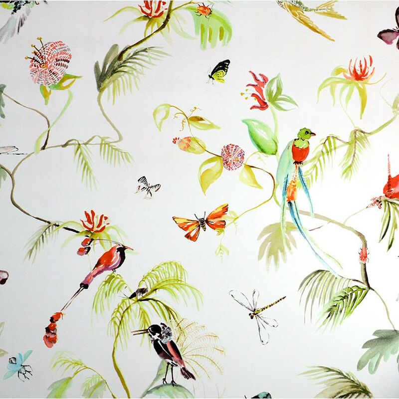 Image of Designed For Living Wallpaper Paste The Wall Vinyl Botanical Birds Floral - BN