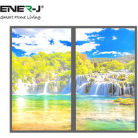 Designed LED Panels in Waterfall Design (set of 2 x 120x60cms Surface Mounted Backlit Panels)