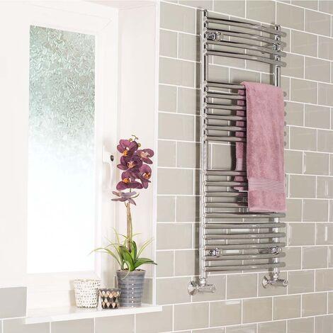 Designer 1000 x 500 mm Curved Ladder Towel Rail Heated Radiator