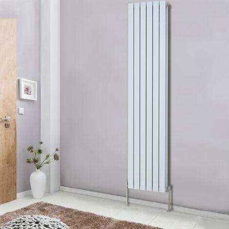 Designer 1800x408 Vertical Flat Double Panel Column Radiator Modern White Bathroom Heater Central Heating