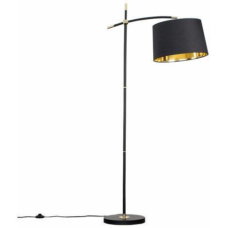 Designer Black & Polished Brass Floor Lamp