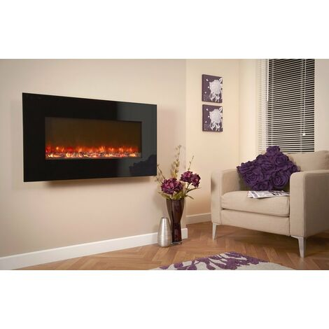 Designer Celsi Fire - Black Glass 1100