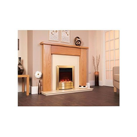 Designer Celsi Fire - Electriflame XD Essence Satin Brass 16''