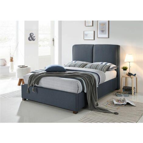 Designer Fabric Dark Grey Bed Frame - King 5ft