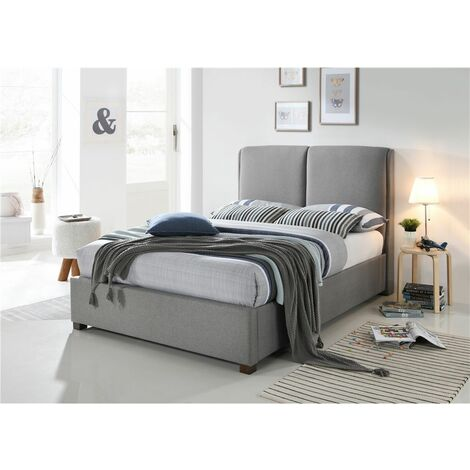Designer Fabric Grey Bed Frame - King 5ft