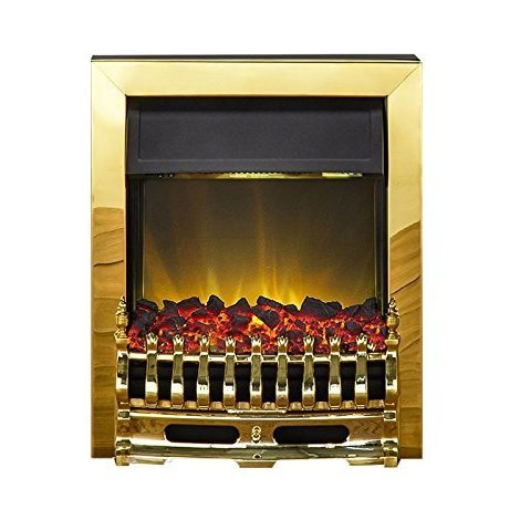 Designer Fire- Adam Blenheim Electric fire in Brass