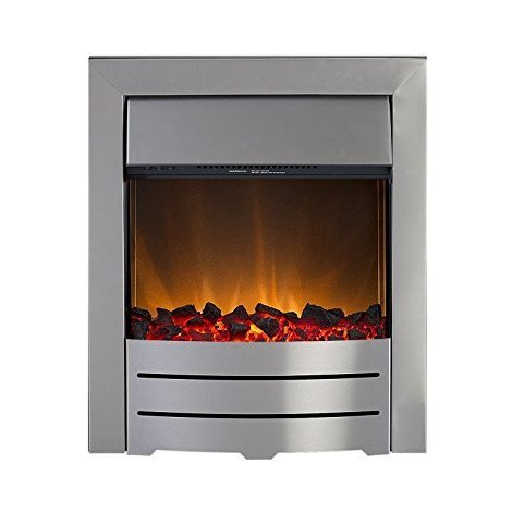Designer Fire - Adam Colorado Electric Fire in Brushed Steel