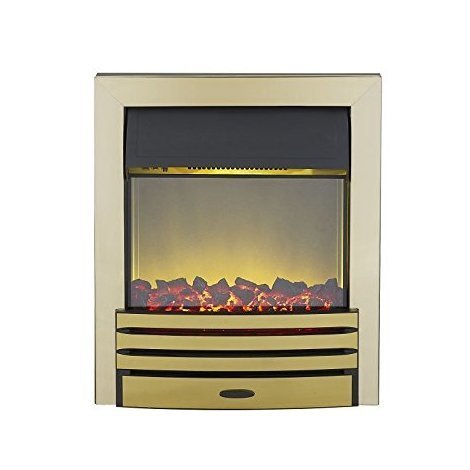 Designer Fire - Adam Eclipse Electric Fire in Brass