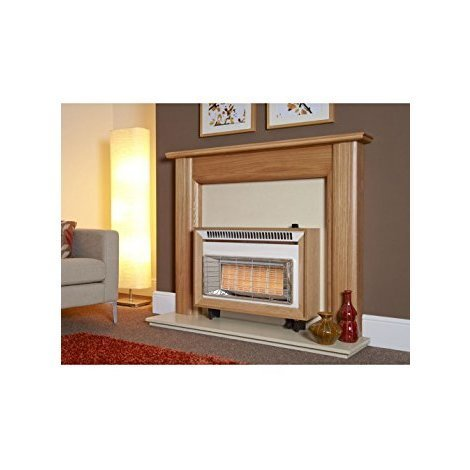 Designer Fire - FLAVEL FORML0EN LIGHT OAK MISERMATIC GAS FIRE – EC