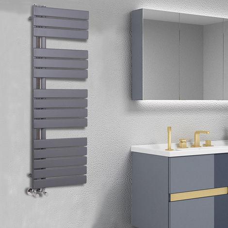 Designer Flat Towel Rail Radiator Bathroom Central Heating Anthracite 1380 x 500mm