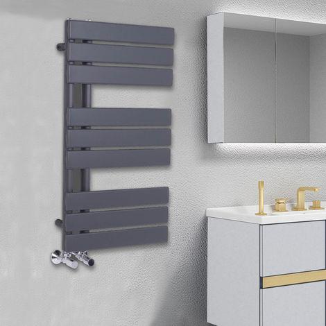 Designer Flat Towel Rail Radiator Bathroom Central Heating Anthracite 824 x 500mm