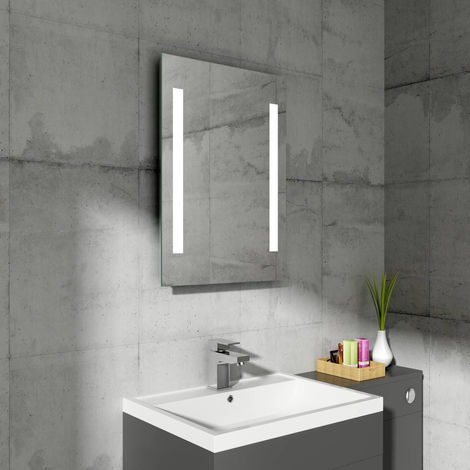 Designer Illuminated LED Bathroom Mirrors with Demister   Horizontal & Vertical
