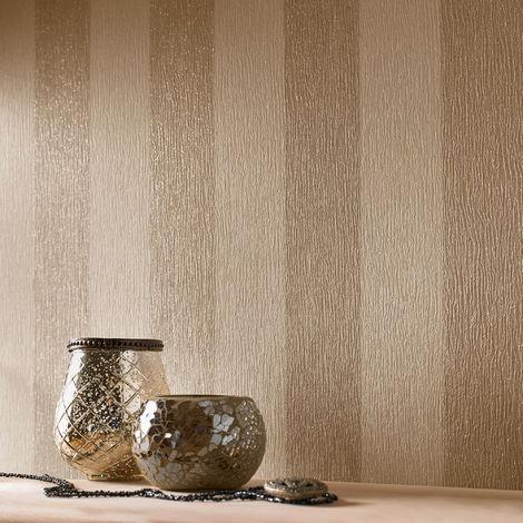 Designer Julien Macdonald Glitterati Cream / Gold Glitter Metallic Wallpaper (Was £25)