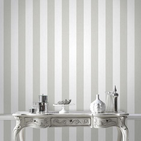 Designer Julien Macdonald Glitterati White / Silver Metallic Glitter Wallpaper