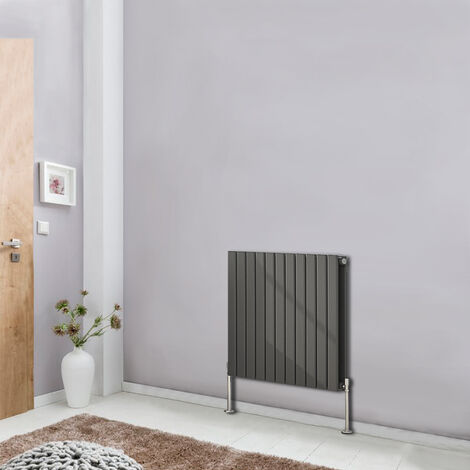 Designer Radiator 600x748 Horizontal Flat Double Panel Column Bathroom Heater Anthracite Central Heating