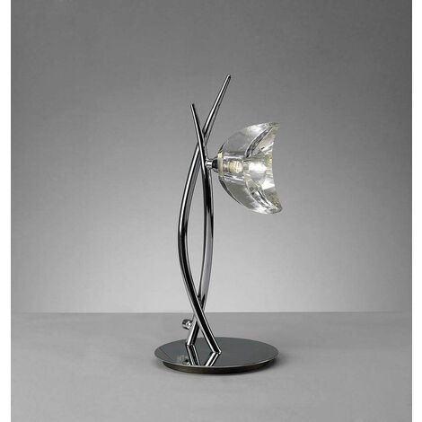 Designer Table Lamp 1 Light Polished Chrome - Modern and Stylish