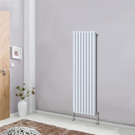 Designer Vertical Column Radiator Modern Bathroom Heater Central Heating Flat Double Panel White 1600x544