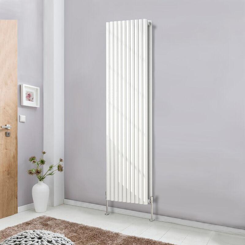designer vertical white 1800x590 radiator tall upright