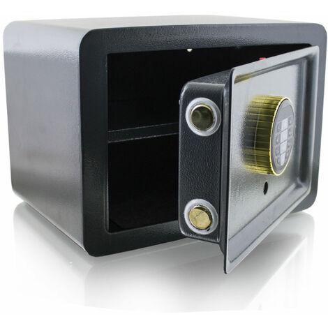 DesignSafe Tresor Wandsafe Wandtresor Schranktresor Elektronisch Maße(B/H/T): 355mm x 255mm x 250mm Türstärke: 3 mm Grau