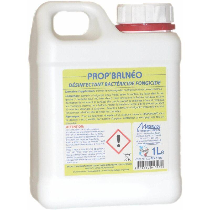 Désinfectant, bactéricide et fongicide pour baignoires 'balnéo'