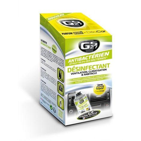 Désinfectant ventilation climatisation et habitacle auto parfum monoï 125 ml GS27