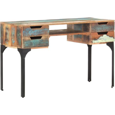 Desk 118x48x75 cm Solid Reclaimed Wood
