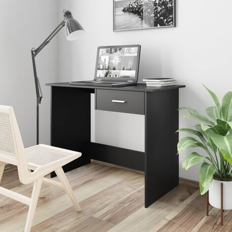 Desk Black 100x50x76 cm Chipboard