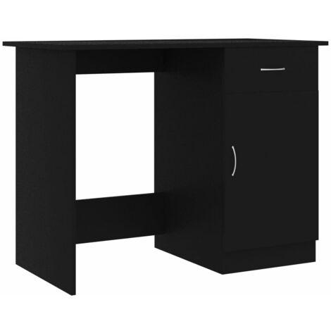 Desk Black 100x50x76 cm Chipboard