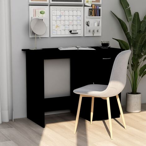 Desk Black 100x50x76 cm Chipboard - Black