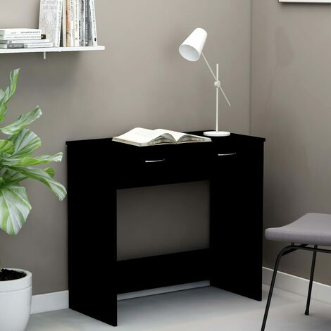 Desk Black 80x40x75 cm Chipboard