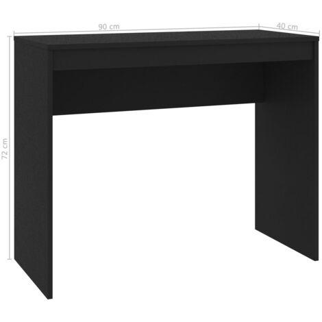 Desk Black 90x40x72 cm Chipboard