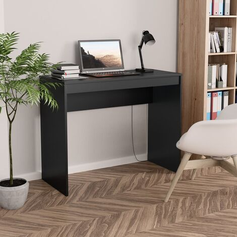 Desk Black 90x40x72 cm Chipboard - Black
