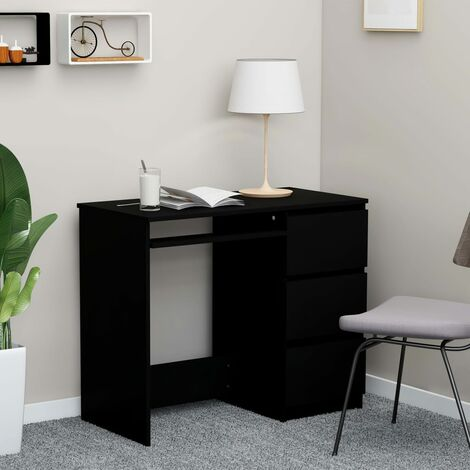 Desk Black 90x45x76 cm Chipboard