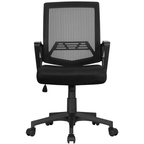 Desk Chair Ergonomic Office Chair Adjustable and Swivel Fabric Mesh Chair with Comfortable Lumbar Support
