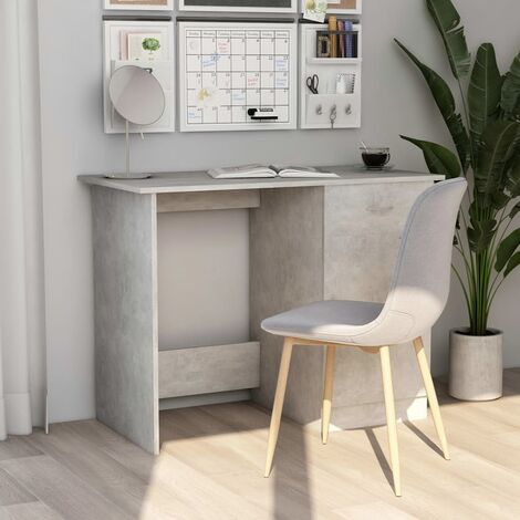 Desk Concrete Grey 100x50x76 cm Chipboard