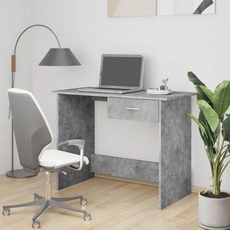 Desk Concrete Grey 100x50x76 cm Chipboard - Grey