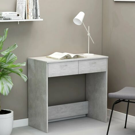 Desk Concrete Grey 80x40x75 cm Chipboard