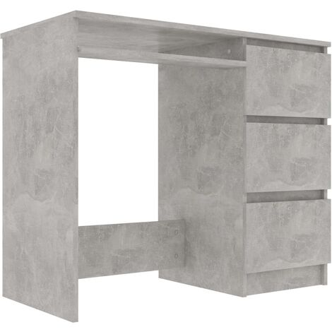 Desk Concrete Grey 90x45x76 cm Chipboard