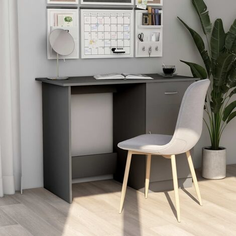 Desk Grey 100x50x76 cm Chipboard
