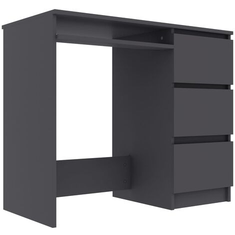 Desk Grey 90x45x76 cm Chipboard