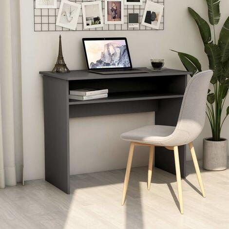 Desk Grey 90x50x74 cm Chipboard - Grey