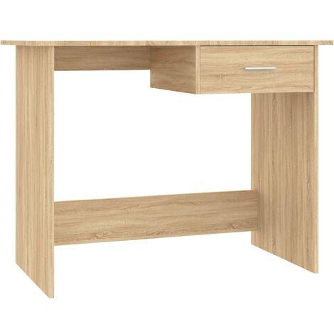 Desk Sonoma Oak 100x50x76 cm Chipboard