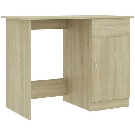 Desk Sonoma Oak 100x50x76 cm Chipboard