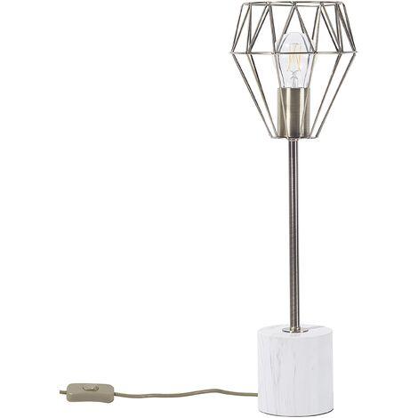 Desk Table Bedside Lamp Light Geometric Diamond Brass Large Mooni