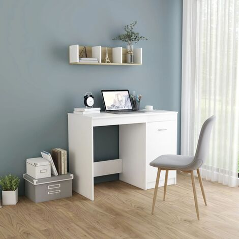Desk White 100x50x76 cm Chipboard