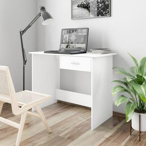 Desk White 100x50x76 cm Chipboard - White